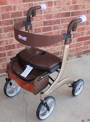 Nitro DLX Deluxe Champagne EuroStyle Rollator Walker RTL10266CH-HS Drive Medical