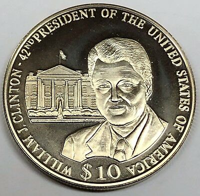 # 6229C     REPUBLIC OF LIBERIA   COIN,     10  DOLLARS   2002   Unc.