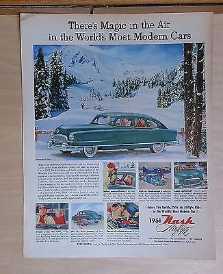 1951 magazine ad for Nash - Airflyte, Magic in Air in World's Most Modern Cars