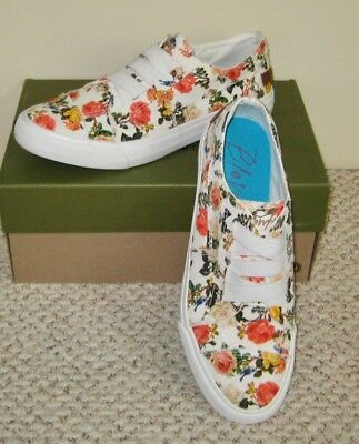 51448a06f9 Blowfish Marley Play Slip On Floral White Canvas Fashion Sneakers Shoes 10M  41