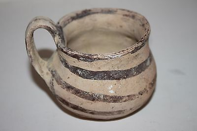 ANCIENT GREEK POTTERY DAUNIAN OLPE MUG 5th BC  WINE CUP