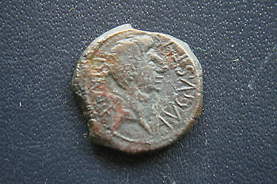 ANCIENT ROMAN AS COIN of AUGUSTUS 1st CENTURY BC/AD