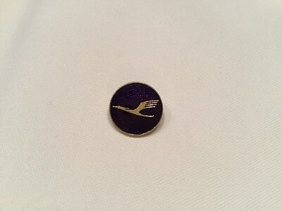 LUFTHANSA Alte Anstecknadel Gold Emaille blau Made in Germany