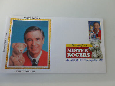 Mister Rogers 2018 DCP Fdc Sc#5275 Colorano Silk Limited Ed. Cachet {Variety #2}