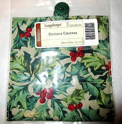 Longaberger Basket Handle Gripper American Holly Fabric New In Bag Authentic