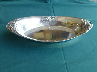 800 Silver Art Nouevou Oval Bowl