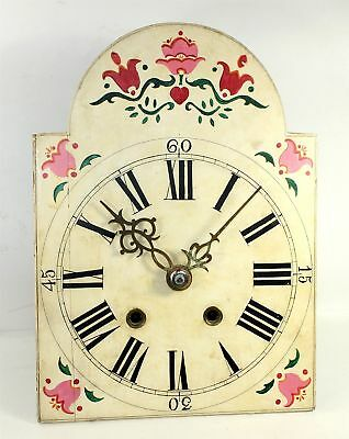 Antique Dutch Tulips Wag On The Wall Clock - Parts Or Repair Ll280