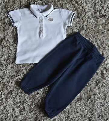 Moncler Baby Boys Designer Summer Clothes Polo Shirt Jogging Bottoms 1-2 Years