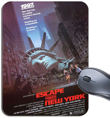 Escape From New York Vintage Movie Poster Mouse Mat. High Quality Film Mouse Pad
