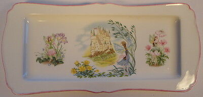 Enchantment Long Lovely Dresser Tray Fairies Castle Flowers Royal Worcester