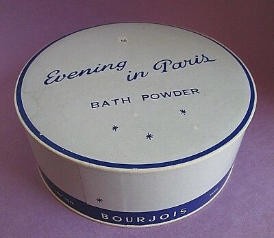 Evening in Paris Bourjois Sealed Dusting Powder & Puff 5 oz Vintage no Box RARE