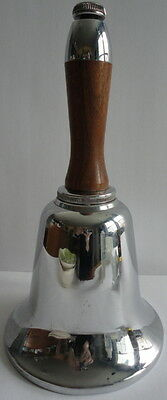Working Silver Bell Large Decanter Oak Handle Mid Century American Well Crafted