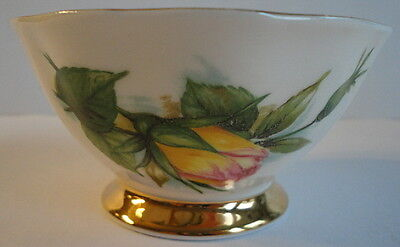 Paragon China Six World Famous Roses Peace by Harry Wheatcroft RARE Open Sugar