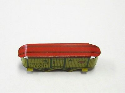 Cracker Jack Prize 1930s Tin Lithographed Railroad Train Freight Car Superb Cond