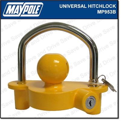 Maypole Universal Trailer, Caravan & Tow Ball Hitch Security Lock 50mm MP953
