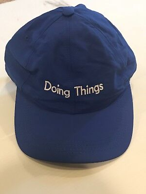 OUTDOOR VOICES Doing Things Adjustable Running CAP HAT BLUE
