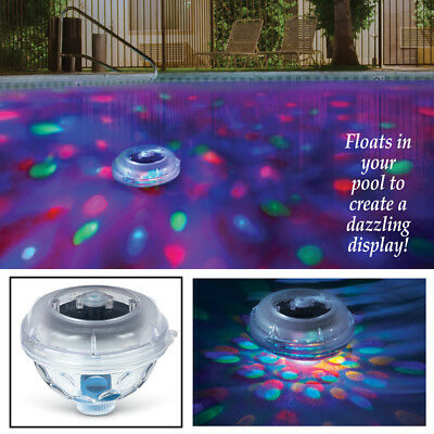 Solar Powered Floating Underwater Kaleidoscope of Color Pool Pond Light Show