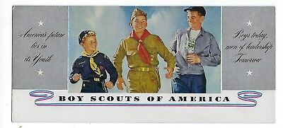 Vintage Boy Scouts Of America Ink Blotter America's Future Lies In Youth