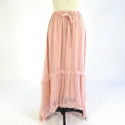 8a683b78b783 0   XS - French Connection NEW  138 Rose Fast Connie Chiffon Maxi Skirt  0127LF