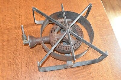vintage gas heavy cast iron cookstove frame camping with shutoff valve