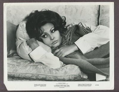 Sophia Loren Sexy 1967 A Countess From Hong Kong Original Vintage Photo J5069