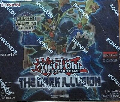 Yugioh - 6 Booster  The Dark Illusion  1.Auflage in deutsch NEU/OVP