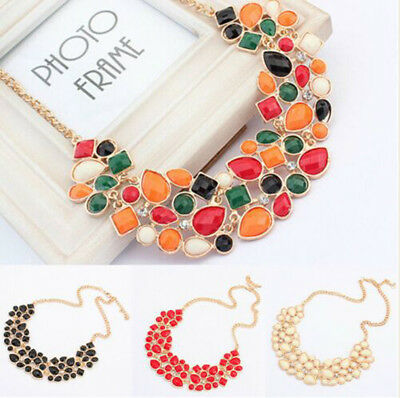 Fashion Womens Summer Beach Colourful Flower Chain Pendant Necklace Jewelry