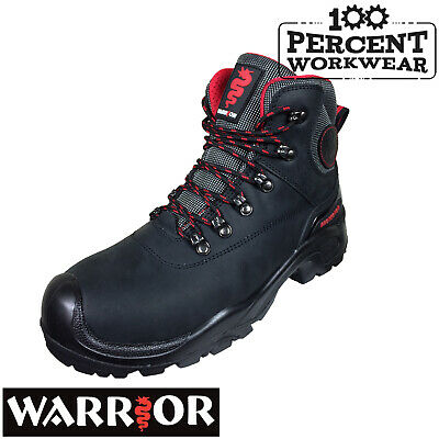 Pro Heavy Duty Tough Builders Construction Trade Work Safety Boots Steel Toe Cap