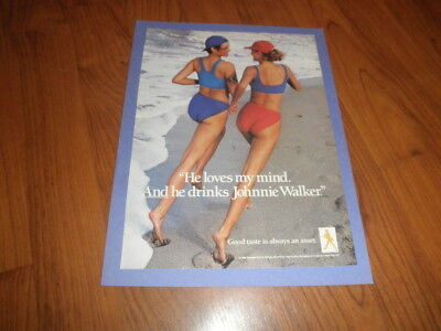 """JOHNNIE WALKER AD-1999-""""He Loves My Mind And Johnnie Walker""""-Mint"""
