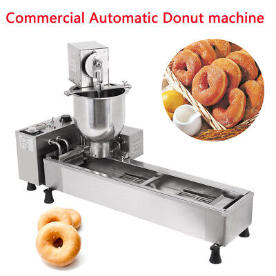 Commercial Automatic Donut Maker Making Machine,Wide Oil Tank 3 Sets Mold 220V