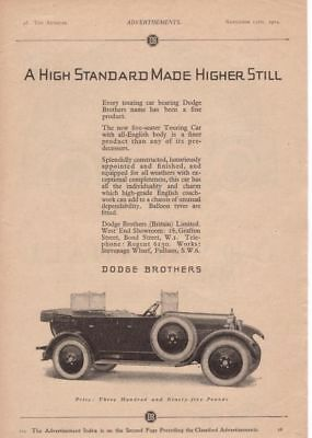 RF2096 1924 24 Dodge Brothers Vtg The AutoCar Magazine Ad