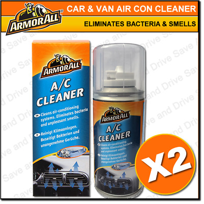 2x Air Con Odour Bomb Air Conditioning Neutraliser & Bacteria Sanitiser Cleaner