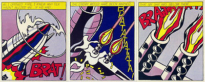 Roy Lichtenstein - As I Opened Fire (Triptych) Set of 3 Prints Stedelijk Museum
