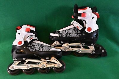 Red Action Power Max Inline Roller Skates - 4 Size adjustable M (37-40)