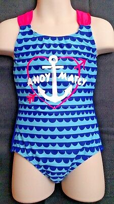 29b167700 Blue Stripe Anchor Circo Girls One Piece Swim bathing suit wear UPF 50 XS (4