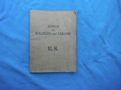 WWI US Army Songs For Soldiers and Sailors US, 1917 edition