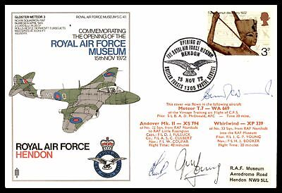 Raf Museum Opening Day Hendon Nov 15 1972 Cachet On Autographed Raf Cover