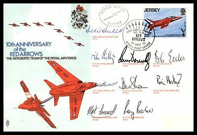 Red Arrows Aerobatic Team Of Raf Oct 30 1975 Cachet On Autographed Cover With In