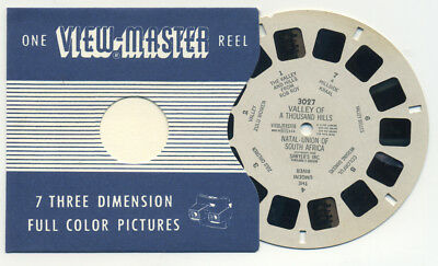 Valley of a Thousand Hills Natal South Africa 1948 RARE ViewMaster Reel 3027