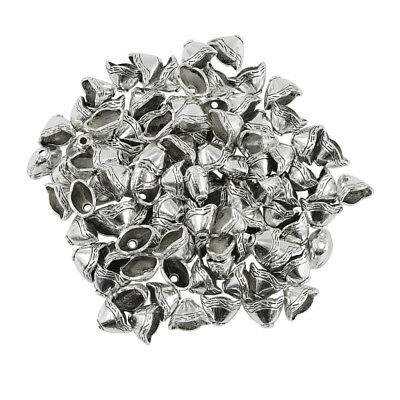 100pcs Antique Silver Tassel End Cap Beads Caps Stopper DIY Jewelry Findings