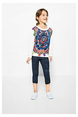 Desigual WH7-71K33J0_10 Leggings bambina - colore Blu IT