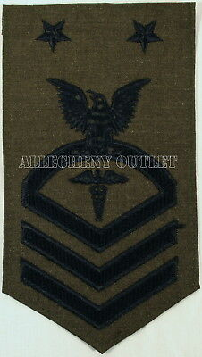USGI NAVY Master Chief Petty Officer Hospital Corpsman Patch OD Green NEW IN BAG
