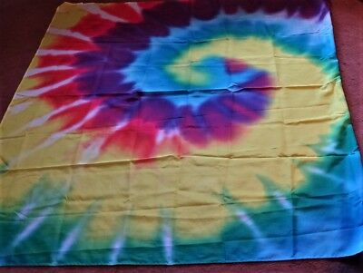 SHOWER CURTAIN Bright Bold Colorful Hippy Tie Dye Look XLNT Looks Unused