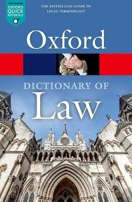 Oxford Quick Reference: A Dictionary of Law-Jonathan Law