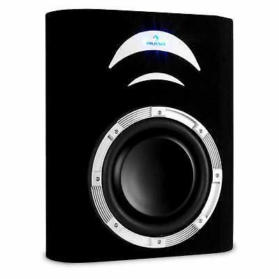 "Nuovo Subwoofer Passivo Auto Auna Car Audio Hi Fi Subwoofer Piatto  500W 10"" Led"