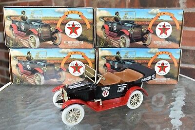 TEXACO 1917 Maxwell Touring Car LOT OF 4 ERTL Diecast Bank Motor Oil Fuel GAS