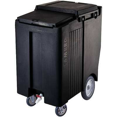 "Cambro Tall Ice Bin / Caddy, 175 Lb. Capacity, 10"" Easy Wheels Black Ics175Tb"