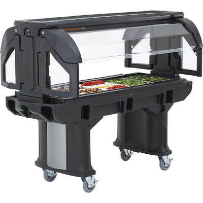 Cambro 6 Ft. Portable Food / Salad Bar With Casters Black Vbr6-110