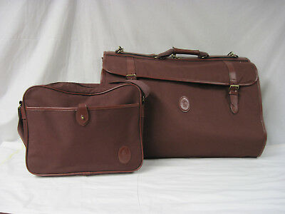 4a2701d380a7 Vintage Ralph Lauren Polo 2 pc. Luggage Set Garment Bag Small Carry On  Burgundy