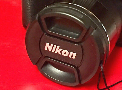 NIKON SNAP-ON CENTER-PINCH LENS CAP 49mm +HOLDER  to Camera 49 mm filter threads